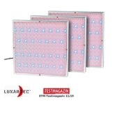 3 viereckige Tageslichtlampen mit vielen LEDs. Zur Moontage an Wand oder Decke