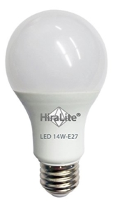 Einzelne Glühlampe als LED Tageslichtlampe mit trüber runden Birne